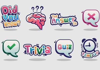 Trivia Vector Sticker - бесплатный vector #354089