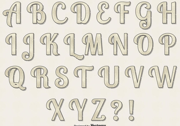 Retro Vector Alphabet Set - Kostenloses vector #354099