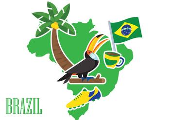 Brasil Illustration - бесплатный vector #354139