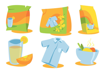 Product Packaging Vector Set - Free vector #354259