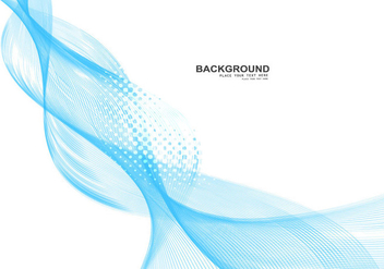 Blue Business Wave On White Background - Kostenloses vector #354369