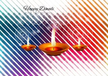 Diyas On Diwali Festival Celebration - vector gratuit #354539
