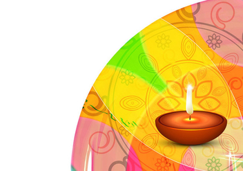Decorative Diwali Festival Card - vector gratuit #354559