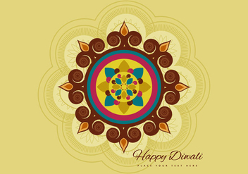 Happy Diwali Greeting Card Design - Free vector #354869