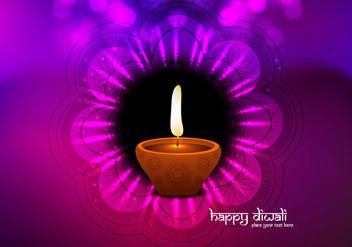 Illuminated Oil Diya - vector gratuit #354879