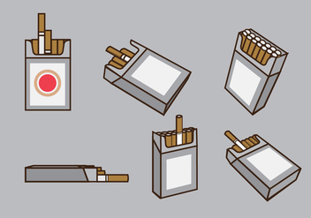 Cigarette Packs Vector - vector gratuit #355159