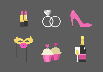Vector Hen Party Elements - vector #355259 gratis