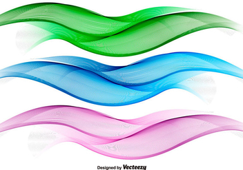 Abstract Colorful Wave Vectors - vector gratuit #355289