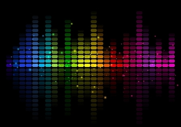 Abstract Free Vector Music Equalizer - бесплатный vector #355349