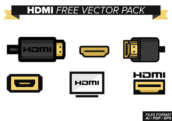 Hdmi Free Vector Pack - бесплатный vector #355399