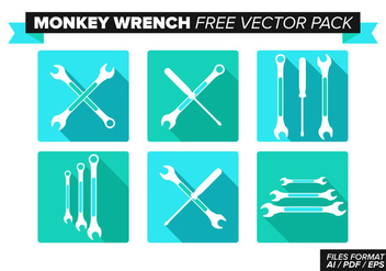 Monkey Wrench Free Vector Pack - vector #355409 gratis