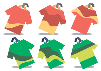 Tshirt Price Tag Wobbler Vector Set - Free vector #355489