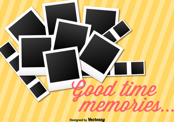 Instant Photo Collage Vector Background - Kostenloses vector #355639