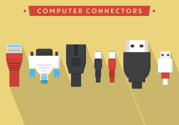 Computer Vector Connectors - Free vector #355669