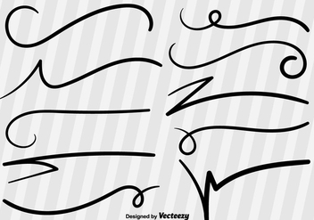 Swish Sketch Vector Lines - Free vector #355709