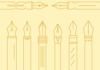 Free Pen Nib Vector #1 - Free vector #355779
