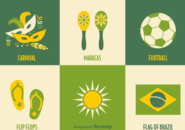 Free Brazil Vector Icons - Free vector #356179