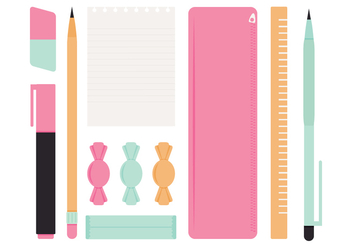 Vector School Supplies - Free vector #356229