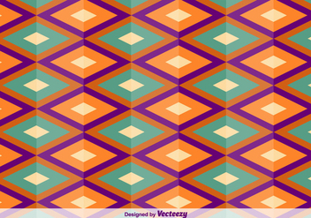 Geometric Square Oriental Vector Pattern - Free vector #356259