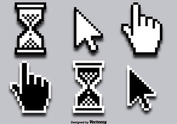 Mouse Click Cursor Vector Icons - Free vector #356299
