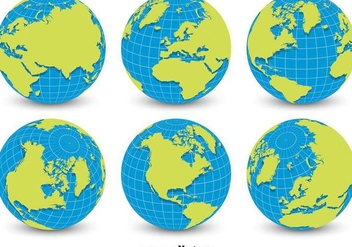 World Globe Grid Vectors - бесплатный vector #356379