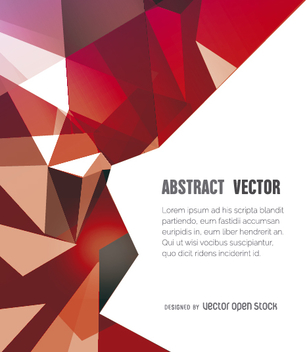 Abstract polygonal background in red tones - vector #356439 gratis