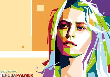Teresa Palmer Portrait Vector - Free vector #356489