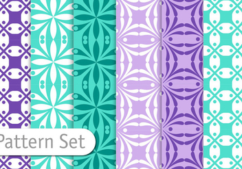 Geometric Pattern Set - Free vector #356559