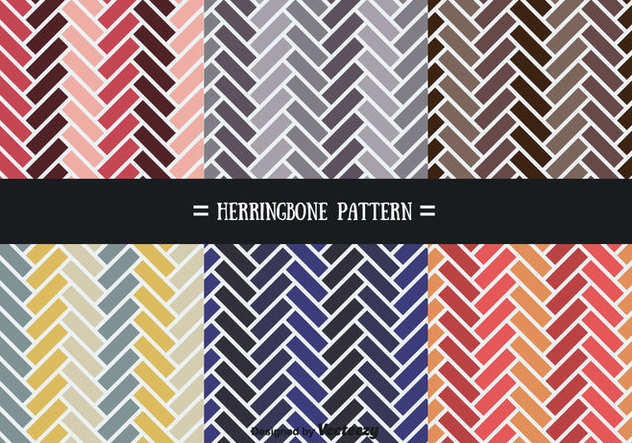 Colorful Herringbone Pattern Vectors - Kostenloses vector #356599