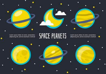 Free Space Planets Vector - Kostenloses vector #356619