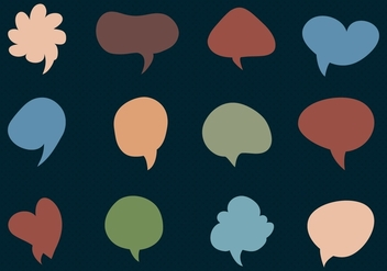 Imessage Free Vector collection of Chat Bubbles. - Free vector #356759