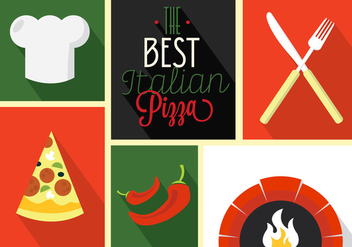 Pizza Vector Icons - vector gratuit #356859