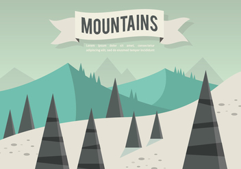 Free Flat Mountains Landscape Vector - бесплатный vector #356999