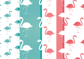 Free Vector Flamingo Patterns - бесплатный vector #357229