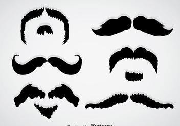 Movember Mustache Black Vectors - Free vector #357259