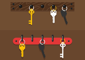 Key Holder Vector - vector gratuit #357279