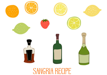 Sangria Ingredients Vector - vector #357329 gratis