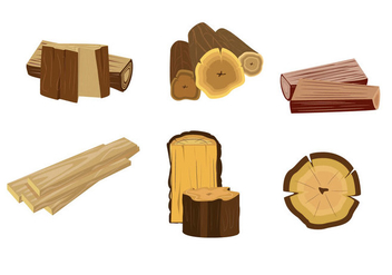 Isolated Wood Logs Vector - vector gratuit #357349