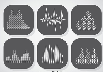 Music Sound Bars Icons Vector - бесплатный vector #357369