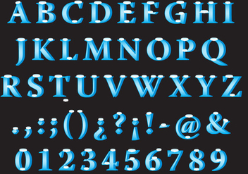 Snowy Vector Font Type - Free vector #357489