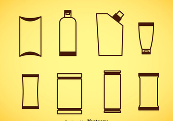 Package Brown Icons Vector - Free vector #357809