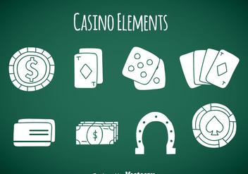 Casino Element Icons Vector - Free vector #357939
