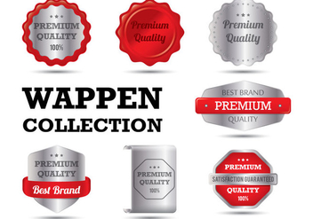 Realistic Wappen Collections - Free vector #358099