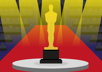 Oscar Statue Awards Illustration Vector - бесплатный vector #358169
