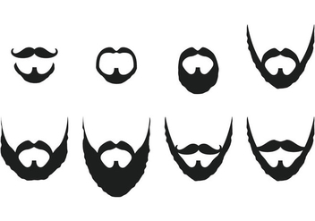 Mustache And Beard Vectors - vector gratuit #358219