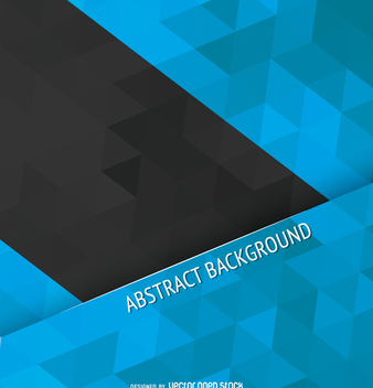 Blue and black polygonal cover - vector gratuit #358299