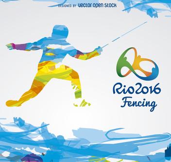 Olympics Rio 2016-Fencing - Kostenloses vector #358309