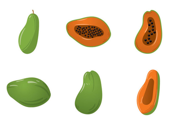 Free Papaya Vector Illustration - Free vector #358429