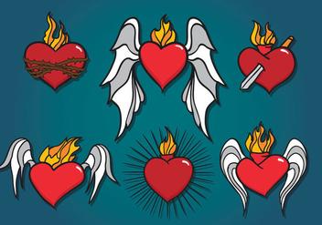 Sacred Heart Vector - vector gratuit #358439