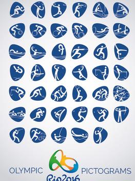 Rio 2016 vector icons pictograms - Free vector #358479